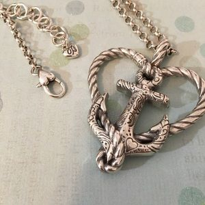 Brighton Anchored in Love Heart Necklace